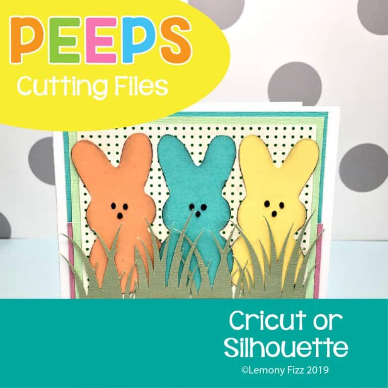 Peep bunnies svg cricut file