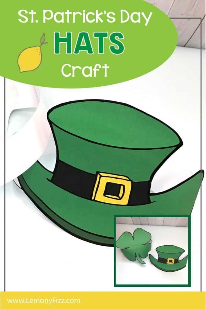 Choose a clover or a Leprechaun hat to wear for St. Patrick's Day. These print and wear hats are fun for school parties, kids and adults. Print them in full color or color your own. You choose. @LemonyFizzPrintables